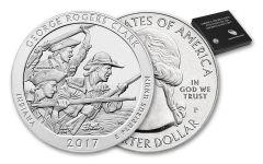 2017-P 25 Cent 5-oz Silver America The Beautiful George Rogers Clark Specimen