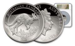 2017 Australia 5-oz Silver Kangaroo High Relief Proof PF69UCAM - First Struck