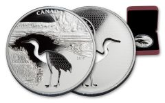 2017 Canada 30 Dollar Silver Cutout Whooping Crane Proof