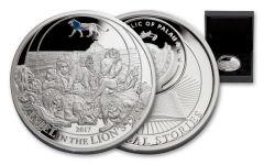 2017 Palau 2 Dollar 1/2-oz Silver Daniel In the Lions Den Proof