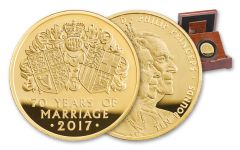 2017 Great Britain 5-oz Gold 70th Wedding Anniversary NGC PF69UCAM