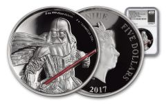 2017 Niue 2 Dollar 2-oz Silver Darth Vader Ultra High Relief NGC PF70UCAM First Releases - Black
