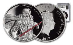 2017 Niue 5 Dollar 2-oz Silver Darth Vader UHR NGC PF69UC- FR