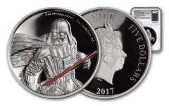2017 Niue 5 Dollar 2-oz Silver Darth Vader UHR NGC PF70UC- FR