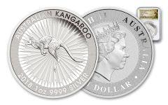 2018 Australia 1 Dollar 1-oz Silver Kangaroo NGC MS69- First Releases