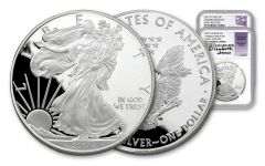2017-S 1 Dollar 1-oz Silver Eagle NGC PF70UCAM ER Limited Edition Set Mercanti & Jones Signed 2pc Set