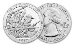 2017-P 25 Cent 5-oz America The Beautiful George Rogers Clark Gem BU
