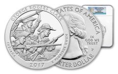 2017-P 25 Cent 5-oz Silver America The Beautiful George Rogers Clark NGC MS69DPL ER
