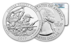 2017 25 Cent 5-oz Silver America The Beautiful G. Rogers Clark NGC MS69DPL FR