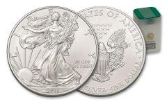 2018 1 Dollar 1-oz Silver Eagle BU 20-Coin Roll - Vault Reserve