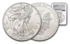 2018 1 Dollar 1-oz Silver Eagle NGC MS70 Early Release Silver Foil Label