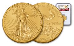 2018 10 Dollar 1/4-oz Gold Eagle NGC MS70 First Releases Eagle Label