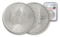 2018 Canada 1-oz Silver Maple Leaf NGC MS69 Early Release