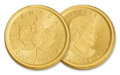 2018 Canada 1/10-oz Gold Maple Leaf Brilliant Uncirculated