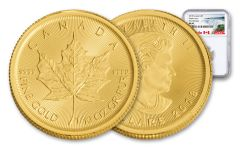 2018 Canada 1/10-oz Gold Maple Leaf NGC MS69 First Releases