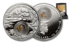 2017 Niue 2 Dollar 1-oz Silver Colorado Gold Rush Proof