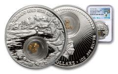 2017 Niue 2 Dollar 1-oz Silver Colorado Gold Rush NGC PF69UCAM