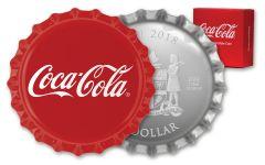 2018 Fiji 1 Dollar Silver Coca-Cola Bottle Cap Proof