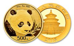2018 China 30 Gram Gold Panda Brilliant Uncirculated