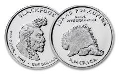 2015 Idaho 1 Dollar 1-oz Silver Porcupine Blackfoot Proof