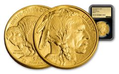 2018 50 Dollar 1-oz Gold Buffalo NGC MS70 First Releases Gold Foil - Black