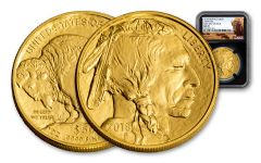 2018 50 Dollar 1-oz Gold Buffalo NGC MS70 First Day Of Issue Buffalo Label - Black