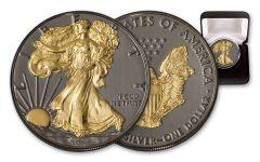 2018 1 Dollar 1-oz Silver Eagle Black Ruthenium BU
