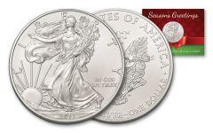 2017 1 Dollar 1-oz Silver Eagle BU Seasons Greetings