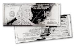 2018 100 Dollar 4-oz Silver Franklin Proof