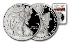 2018-W 1 Dollar 1-oz Silver Eagle NGC PF69UCAM First Releases Eagle Label
