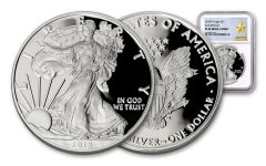 2018-W 1 Dollar 1-oz Silver Eagle NGC PF69UCAM Early Releases Gold Star Label