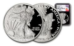 2018-W 1 Dollar 1-oz Silver Eagle NGC PF70UCAM First Releases Mercanti Signed - Black