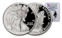 2018-W 1 Dollar 1-oz Silver Eagle PCGS PR70DCAM First Strike Flag Label