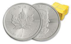 2018 Canada 1-oz Silver Maple Leaf BU 500-Coin Monster Box