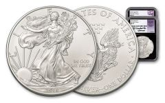 2018 1 Dollar 1-oz Silver Eagle NGC MS70 First Day Of Issue Mercanti Jones Signed 2pc Set - Black