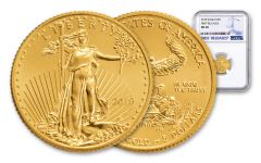 2018 5 Dollar 1/10-oz Gold Eagle NGC MS69 First Releases