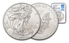 2018-W 1 Dollar 1-oz Silver Eagle NGC MS70 First Day Of Issue