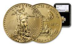 2018 5 Dollar 1/10-oz Gold Eagle NGC MS69 Eagle Label - Black