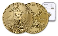 2018 5 Dollar 1/10-oz Gold Eagle NGC MS70 Eagle Label