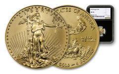 2018 5 Dollar 1/10-oz Gold Eagle NGC MS70 Eagle Label - Black