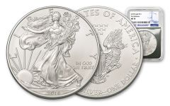 2018 1 Dollar 1-oz Silver Eagle NGC MS70 First Releases - Silver Foil