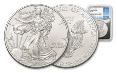 2018 1 Dollar 1-oz Silver Eagle NGC MS70 First Day Of Issue - Silver Foil