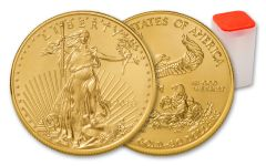 2018 50 Dollar 1-oz Gold Eagle BU 20-Coin Roll