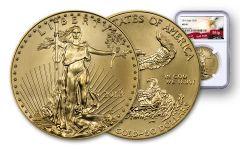 2018 50 Dollar 1-oz Gold Eagle NGC MS69 Eagle Label