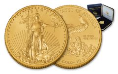 2018 10 Dollar 1/4-oz Gold Eagle BU in U.S. Mint Presentation Box