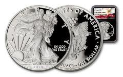 2018-W 1 Dollar 1-oz Silver Eagle NGC PF69UCAM Eagle Label - Black