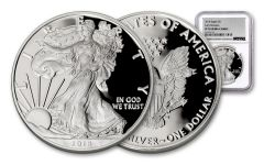 2018-W 1 Dollar 1-oz Silver Eagle NGC PF70UCAM Early Releases Silver Foil
