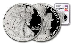 2018-W 1 Dollar 1-oz Silver Eagle NGC PF70UCAM Early Releases Mercanti Signed