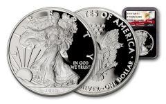 2018-W 1 Dollar 1-oz Silver Eagle NGC PF70UCAM Eagle Label - Black