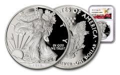 2018-W 1 Dollar 1-oz Silver Eagle NGC PF69UCAM Eagle Label